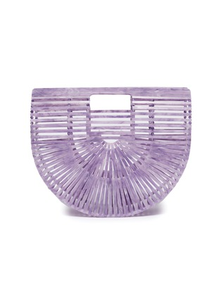 Main View - Click To Enlarge - CULT GAIA - 'Ark' acrylic small caged saddle bag