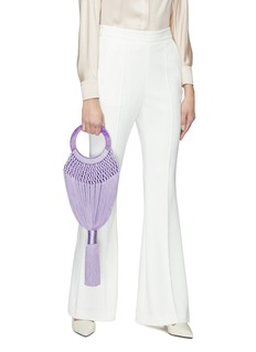 Cult Gaia 'Angelou' ring handle small tassel bag