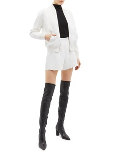 Alexander McQueen Shell jacquard knit zip jacket