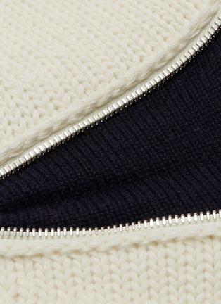 - Alexander McQueen - Zip elbow gusset wool sweater