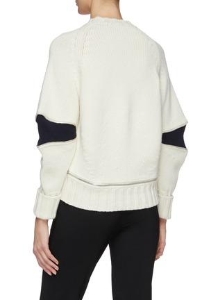 Back View - Click To Enlarge - Alexander McQueen - Zip elbow gusset wool sweater