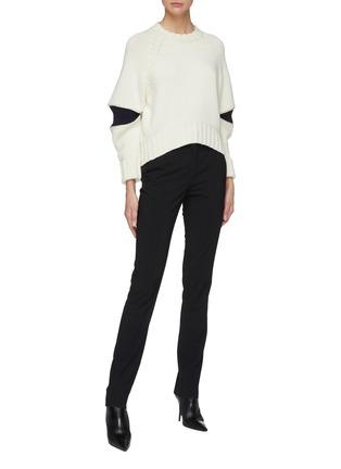 Figure View - Click To Enlarge - Alexander McQueen - Zip elbow gusset wool sweater