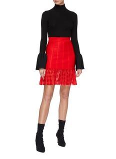 Alexander McQueen Stripe knit peplum skirt
