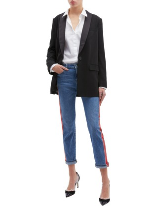 Figure View - Click To Enlarge - Alexander McQueen - Stripe outseam skinny jeans