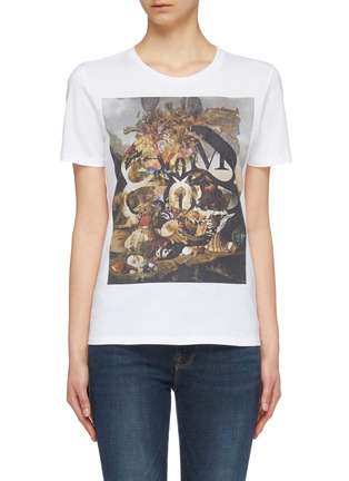 Main View - Click To Enlarge - Alexander McQueen - 'Still Life Shells' graphic print T-shirt