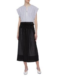 Tibi Zip waist panel tie ruched skirt