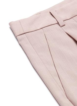 - TIBI - Pleated virgin wool shorts