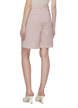 Back View - Click To Enlarge - TIBI - Pleated virgin wool shorts