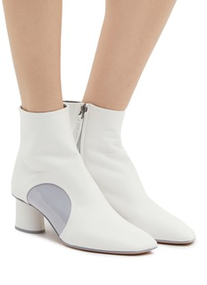 Gray Matters 'Post It' geometric patent patch leather ankle boots