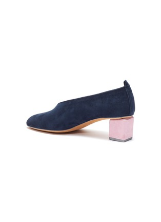 30acbac2825e0 GRAY MATTERS | 'Mildred' geometric heel suede mules | Women | Lane ...