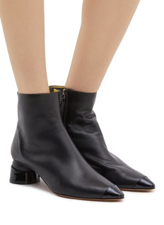 Gray Matters 'Yoyo' geometric heel leather ankle boots