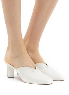 Gray Matters 'Dot' colourblock geometric heel leather mules