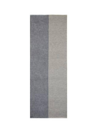 Main View - Click To Enlarge - Janavi - Colourblock Merino wool scarf