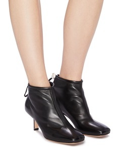 Nicholas Kirkwood 'Delfi' faux pearl drawstring leather ankle boots