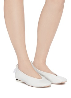 Nicholas Kirkwood 'Delfi' faux pearl drawcord counter leather flats