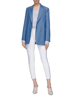 J Brand 'Alana' contrast piping cropped skinny jeans