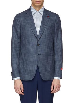 Main View - Click To Enlarge - ISAIA - 'Cortina' wool-silk blazer