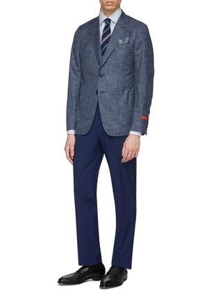 Figure View - Click To Enlarge - ISAIA - 'Cortina' wool-silk blazer