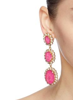 Elizabeth Cole 'Lawrence' glass crystal drop earrings