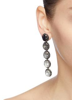 Elizabeth Cole 'Von' glass crystal ombré drop earrings