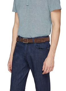 ISAIA Reversible suede belt