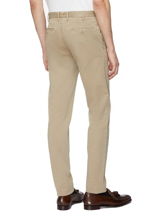 Back View - Click To Enlarge - ISAIA - Slim fit gabardine chinos