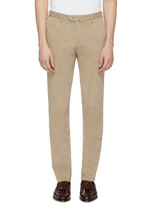 Main View - Click To Enlarge - ISAIA - Slim fit gabardine chinos