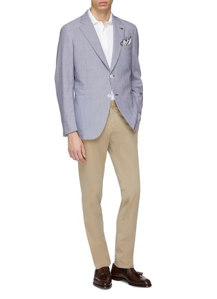 Figure View - Click To Enlarge - ISAIA - Slim fit gabardine chinos