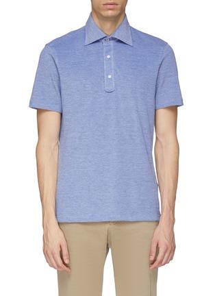 Main View - Click To Enlarge - ISAIA - Marled polo shirt