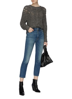 MOTHER 'The Dazzler Shift Crop' staggered waist jeans