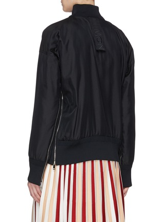 Back View - Click To Enlarge - MONCLER GENIUS - x 1952 'Love' chenille patch down padded bomber jacket