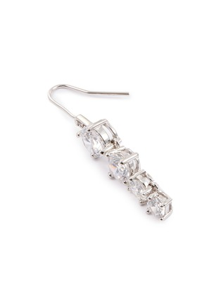 Detail View - Click To Enlarge - CZ by Kenneth Jay Lane - Cubic zirconia linear drop earrings