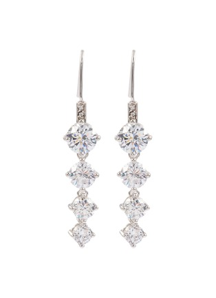 Main View - Click To Enlarge - CZ by Kenneth Jay Lane - Cubic zirconia linear drop earrings
