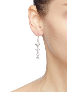 CZ by Kenneth Jay Lane Cubic zirconia linear drop earrings