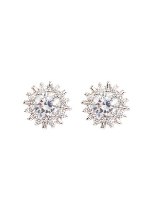 Main View - Click To Enlarge - CZ by Kenneth Jay Lane - Cubic zirconia starburst stud earrings