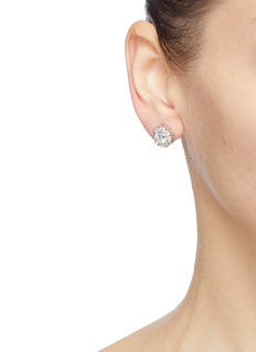 CZ by Kenneth Jay Lane Cubic zirconia starburst stud earrings