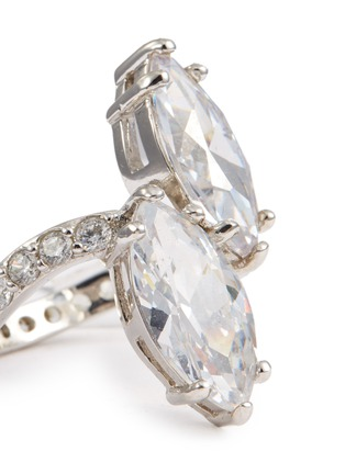 Detail View - Click To Enlarge - CZ by Kenneth Jay Lane - Cubic zirconia toi et moi ring