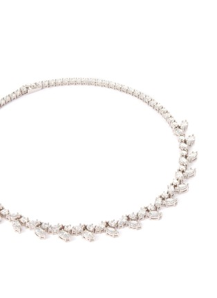Detail View - Click To Enlarge - CZ by Kenneth Jay Lane - Cubic zirconia foliate vine necklace