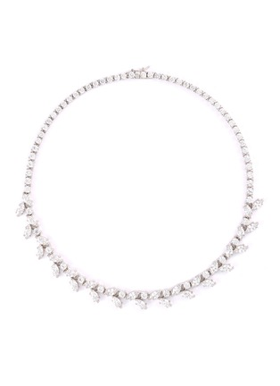 Main View - Click To Enlarge - CZ by Kenneth Jay Lane - Cubic zirconia foliate vine necklace