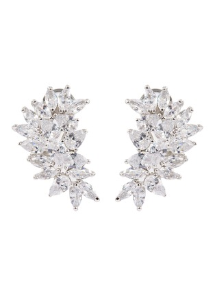 Main View - Click To Enlarge - CZ BY KENNETH JAY LANE - Cubic zirconia cluster stud earrings