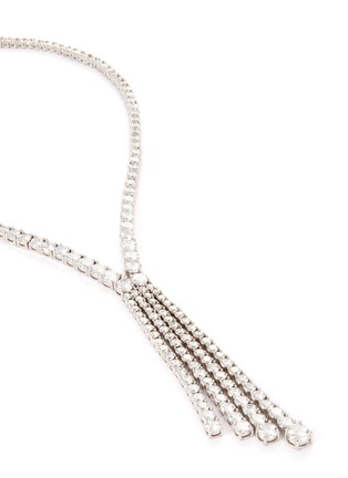 Detail View - Click To Enlarge - CZ by Kenneth Jay Lane - Cubic zirconia tassel fringe necklace