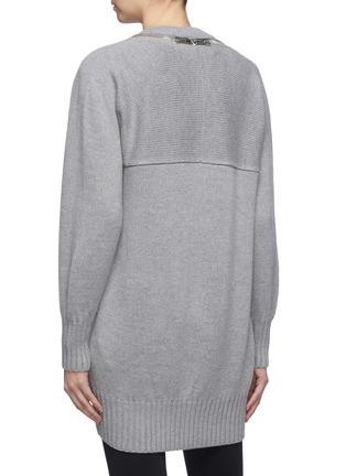 Back View - Click To Enlarge - ALEXANDERWANG - Zip shoulder Merino wool sweater