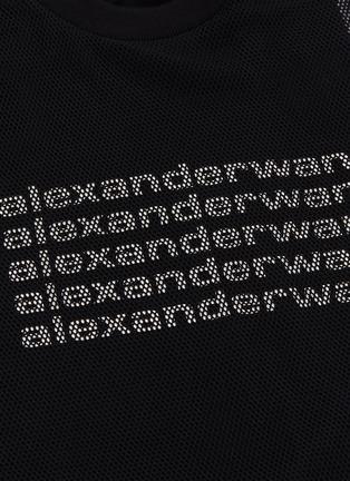 - ALEXANDER WANG - Logo print tank panel mesh overlay T-shirt