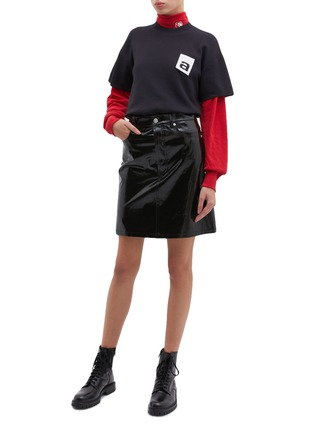 Figure View - Click To Enlarge - ALEXANDERWANG - Logo patch knit T-shirt
