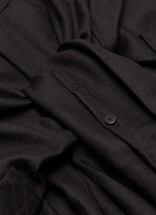 - ALEXANDERWANG - Sleeve tie front wool twill skort