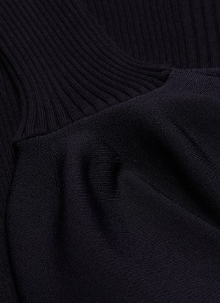 - ALEXANDERWANG - Bell cuff rib knit turtleneck top