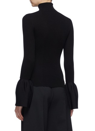 Back View - Click To Enlarge - ALEXANDERWANG - Bell cuff rib knit turtleneck top