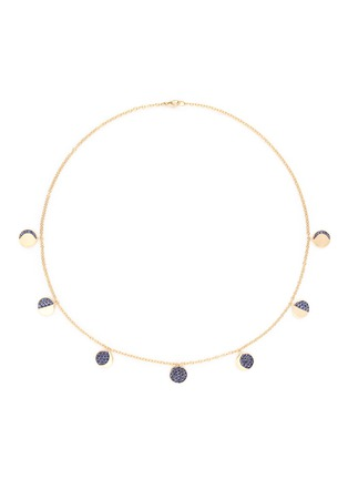 Main View - Click To Enlarge - Pamela Love - 'Moon Phase' sapphire 18k yellow gold necklace
