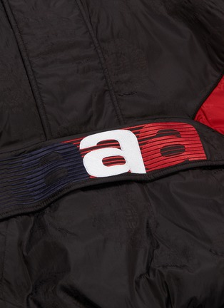 - ALEXANDER WANG - Logo embroidered colourblock panel hooded half-zip windbreaker jacket