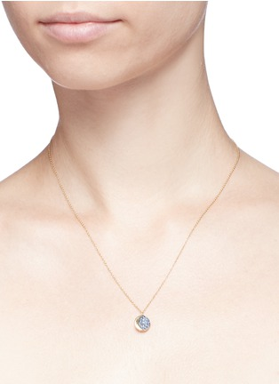 Detail View - Click To Enlarge - PAMELA LOVE - 'Reversible Moon Phase' sapphire 18k yellow gold pendant